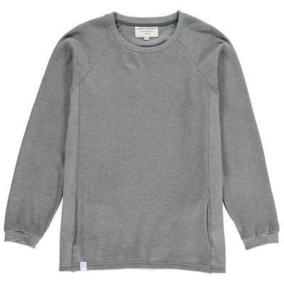 Aequem.com Shop Men's Ethical Fashion & Men's Sustainable Fashion Grey Organic Cotton Texture Sweatshirt-Sweatshirts-Lyme Terrace (UK)