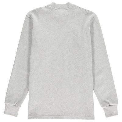Aequem.com Shop Men's Ethical Fashion & Men's Sustainable Fashion Grey Organic Rib Mock Neck-Sweatshirts-Lyme Terrace (UK)