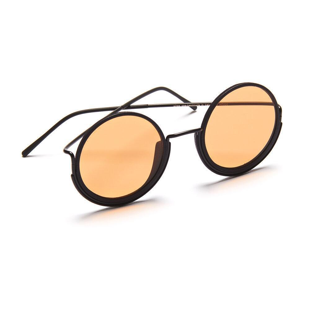 Aequem.com Shop Women's Ethical Fashion & Women's Sustainable Fashion 180º Glasses in Black/Black/Orange-Glasses-Wire Glasses (UK)