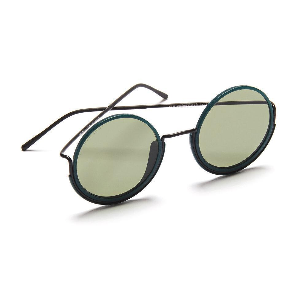 Aequem.com Shop Women's Ethical Fashion & Women's Sustainable Fashion 180º Glasses in Black/Pine Forest/G15-Glasses-Wire Glasses (UK)