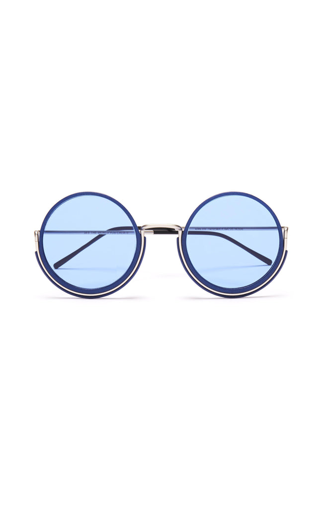 Aequem.com Shop Women's Ethical Fashion & Women's Sustainable Fashion 180º Glasses in Silver/Lunar Blue/Blue-Glasses-Wire Glasses (UK)