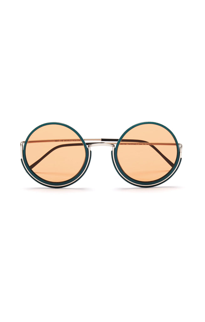 Aequem.com Shop Women's Ethical Fashion & Women's Sustainable Fashion 180º Glasses in Silver/Pine Forest/Orange-Glasses-Wire Glasses (UK)