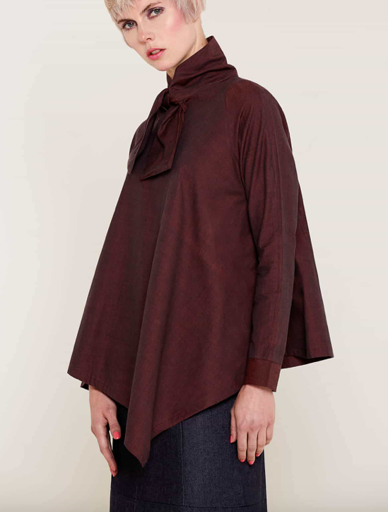 Aequem.com Shop Women's Ethical Fashion & Women's Sustainable Fashion Alexandra Burgundy Shirt-Tops-Bo Carter (UK)