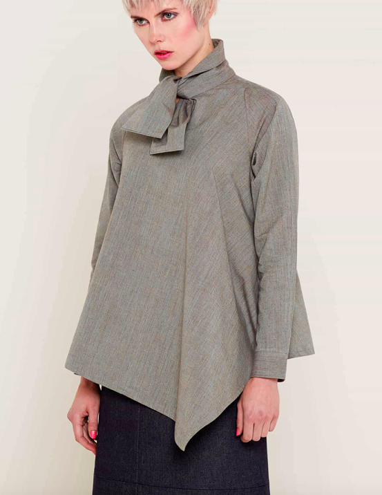 Aequem.com Shop Women's Ethical Fashion & Women's Sustainable Fashion Alexandra Grey Shirt-Tops-Bo Carter (UK)