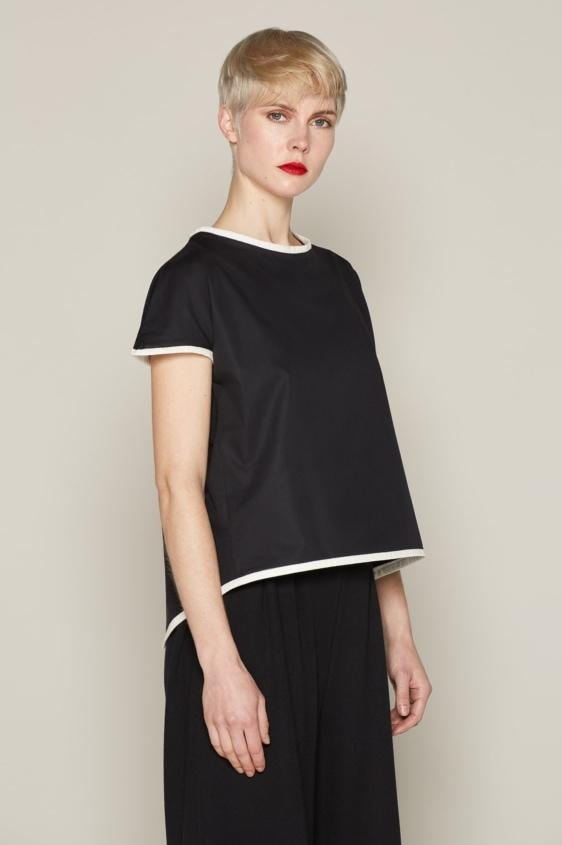 Aequem.com Shop Women's Ethical Fashion & Women's Sustainable Fashion Andrea Top - Black-Tops-Bo Carter (UK)