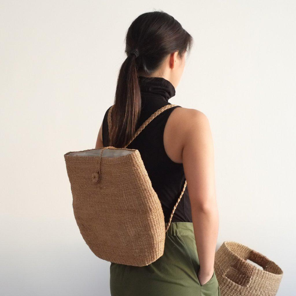Aequem.com Shop Women's Ethical Fashion & Women's Sustainable Fashion Anita Backpack - Camel-Backpacks-INNÉ Studios