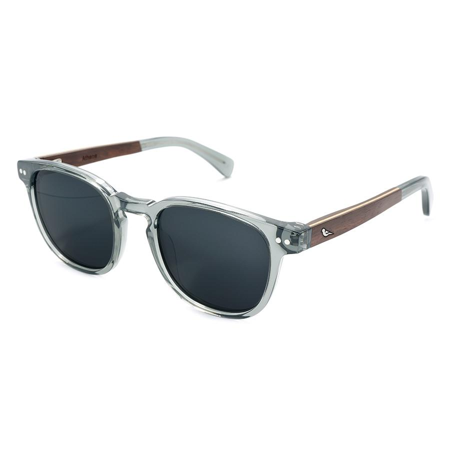 Aequem.com Shop Women's Ethical Fashion & Women's Sustainable Fashion Athene Dusk Unisex Bio Eyewear in Grey and Wood-Glasses-BIRD Eyewear (UK)