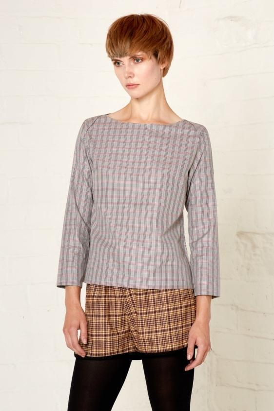 Aequem.com Shop Women's Ethical Fashion & Women's Sustainable Fashion Barbara Top - Grey-Tops-Bo Carter (UK)