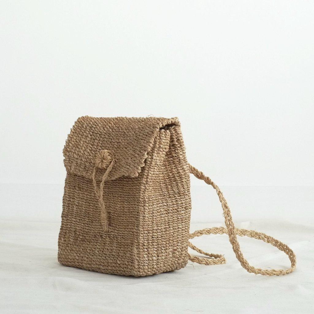 Aequem.com Shop Women's Ethical Fashion & Women's Sustainable Fashion Bella Backpack - Natural-Backpacks-INNÉ Studios
