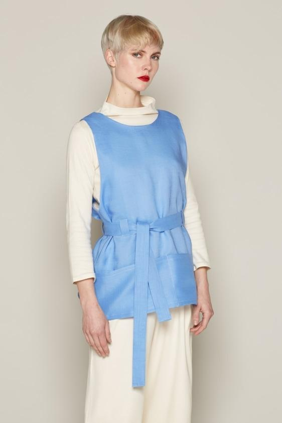 Aequem.com Shop Women's Ethical Fashion & Women's Sustainable Fashion Bibbe Top - Blue-Tops-Bo Carter (UK)