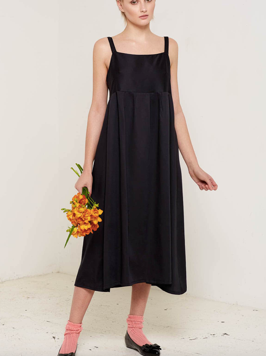 Aequem.com Shop Women's Ethical Fashion & Women's Sustainable Fashion Black Juliet Dress-Dresses-Bo Carter (UK)