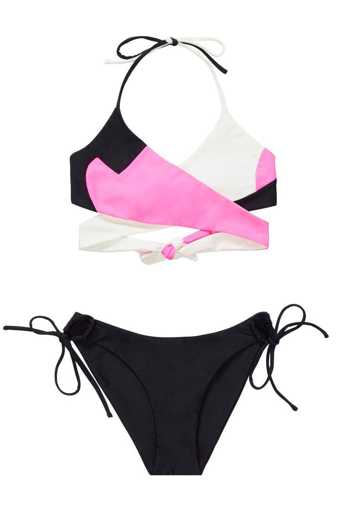 Aequem.com Shop Women's Ethical Fashion & Women's Sustainable Fashion Bohai Bikini in Pink-Bikini Sets-WeAreNativ (UK)