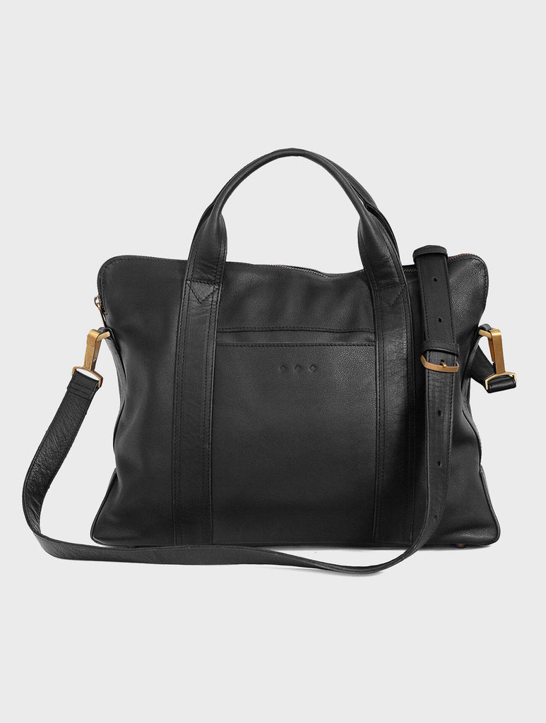 Aequem.com Shop Women's Ethical Fashion & Women's Sustainable Fashion Burton - The Laptop Bag in Black-Laptop Sleeves-Kmana