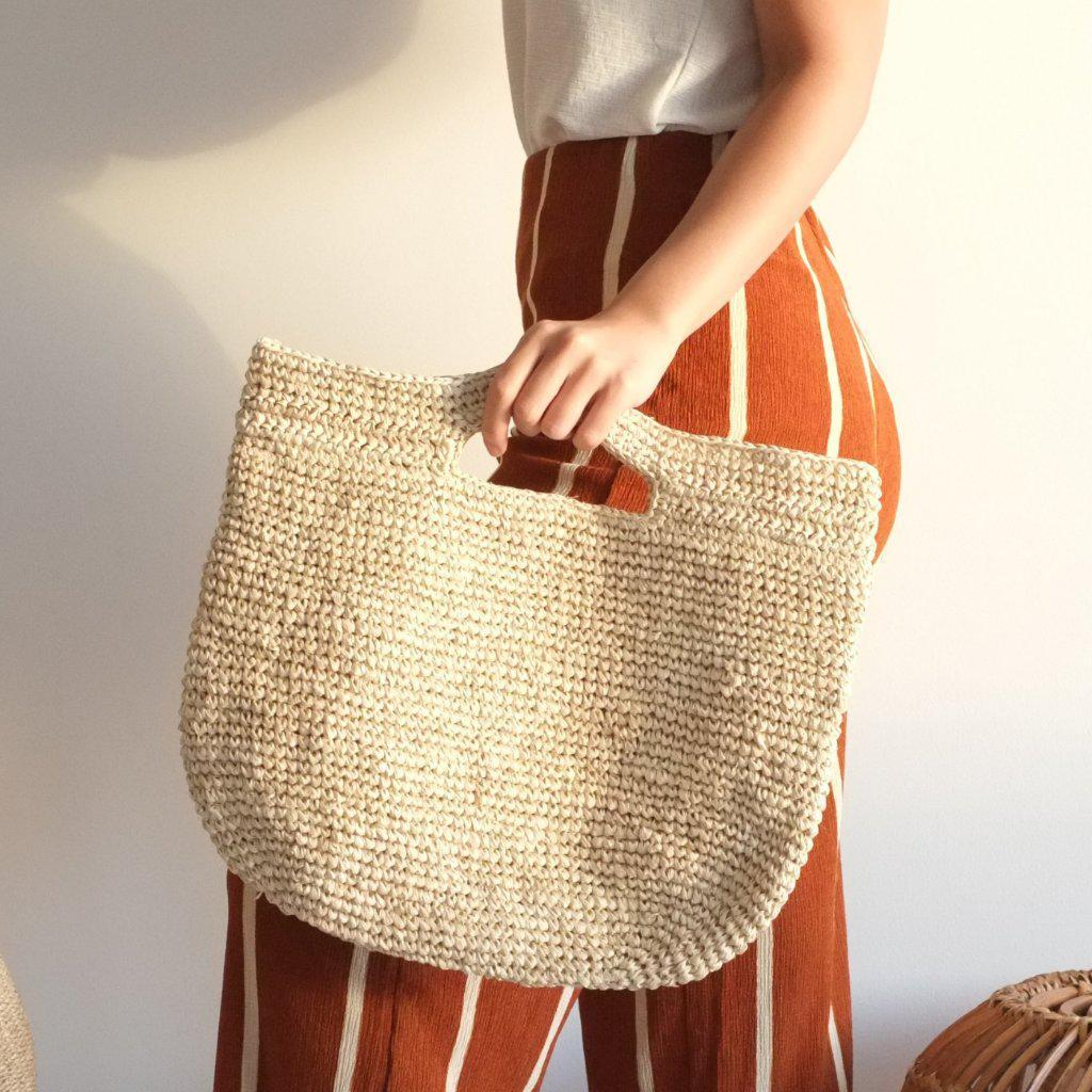 Aequem.com Shop Women's Ethical Fashion & Women's Sustainable Fashion Casta Tote Bag - Natural-Tote Bags-INNÉ Studios