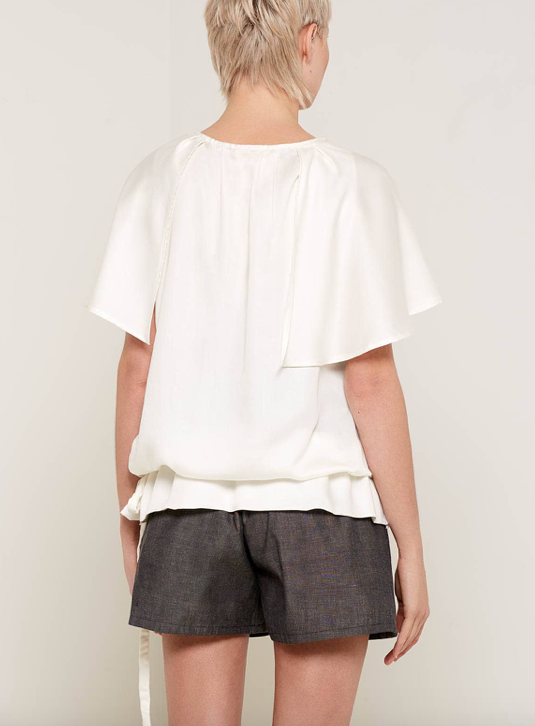 Aequem.com Shop Women's Ethical Fashion & Women's Sustainable Fashion Christabel Top - White-Tops-Bo Carter (UK)
