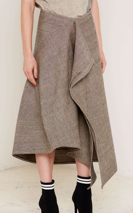 Aequem.com Shop Women's Ethical Fashion & Women's Sustainable Fashion Christina Grey Skirt-Skirts-Bo Carter (UK)
