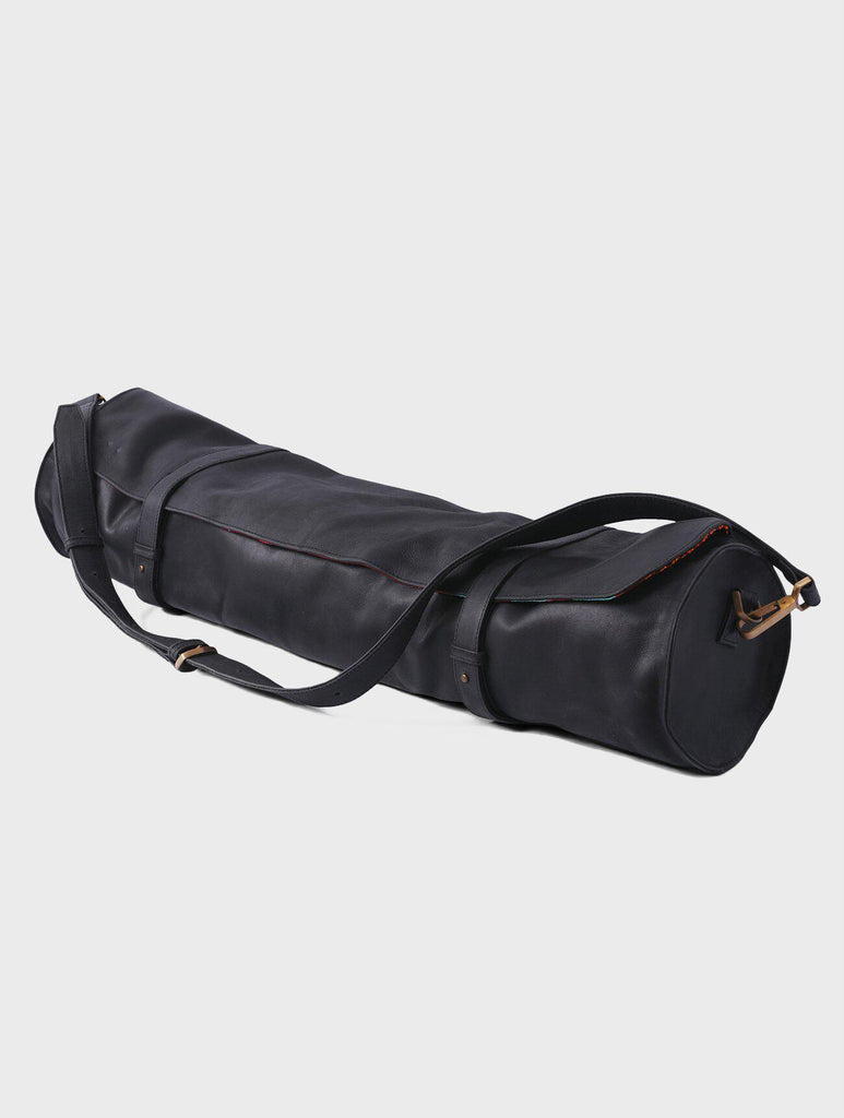 Aequem.com Shop Women's Ethical Fashion & Women's Sustainable Fashion Chtwin - Yoga Mat Leather Bag in Black-Bags-Kmana