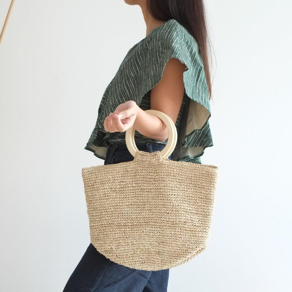 Aequem.com Shop Women's Ethical Fashion & Women's Sustainable Fashion Cora Tote Bag - Natural-Tote Bags-INNÉ Studios