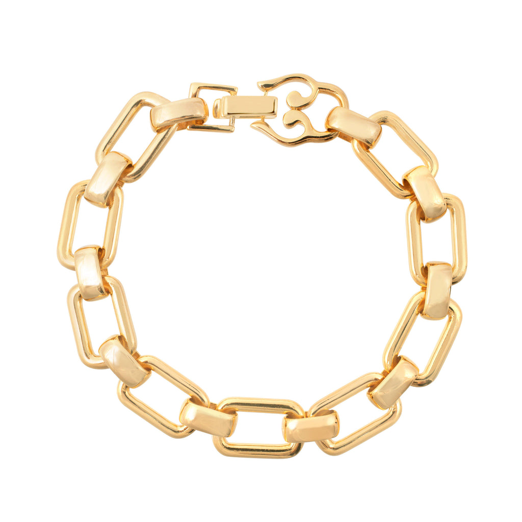 Aequem.com Shop Women's Ethical Fashion & Women's Sustainable Fashion Daphne Chain Bracelet In Gold-Jewellery-Amadeus (UK)