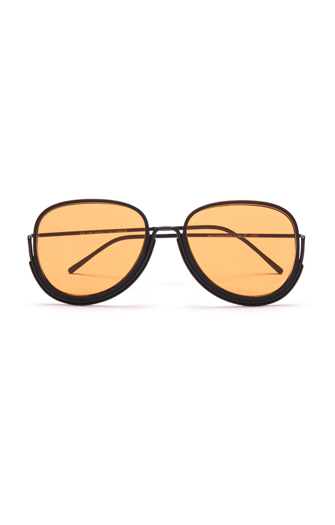 Aequem.com Shop Women's Ethical Fashion & Women's Sustainable Fashion Earhart Glasses in Black/Black/Orange-Glasses-Wire Glasses (UK)