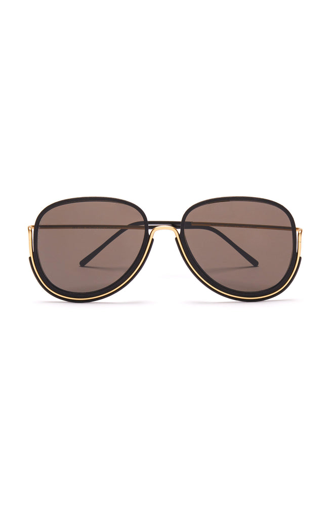 Aequem.com Shop Women's Ethical Fashion & Women's Sustainable Fashion Earhart Glasses in Gold/Black/Grey-Glasses-Wire Glasses (UK)