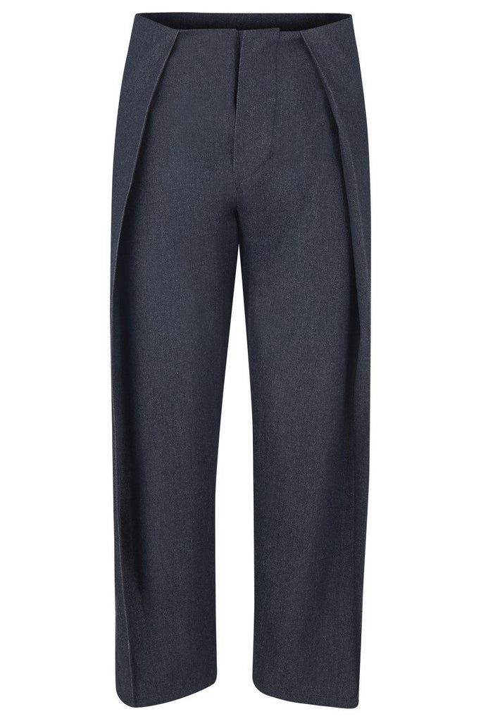 Aequem.com Shop Women's Ethical Fashion & Women's Sustainable Fashion Emmi Pants in Organic Cotton Denim-Trousers-Maqu