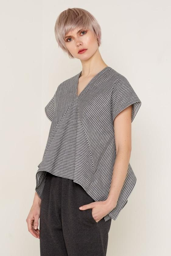 Aequem.com Shop Women's Ethical Fashion & Women's Sustainable Fashion Erist Top - Black & White-Tops-Bo Carter (UK)