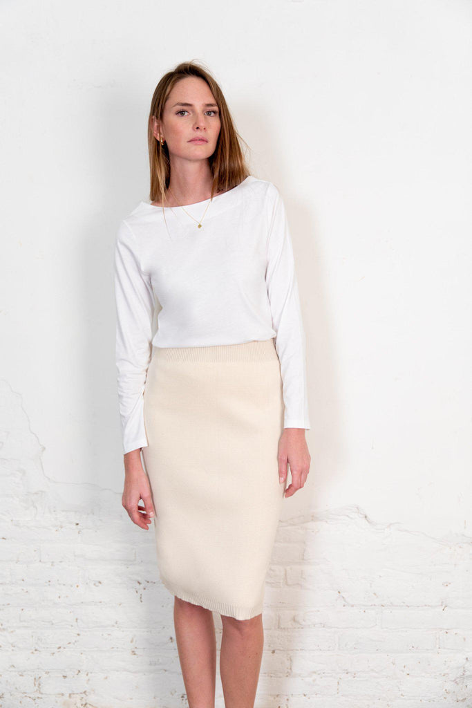 Aequem.com Shop Women's Ethical Fashion & Women's Sustainable Fashion Fapun Skirt in Natural-Skirts-The Nordic Leaves