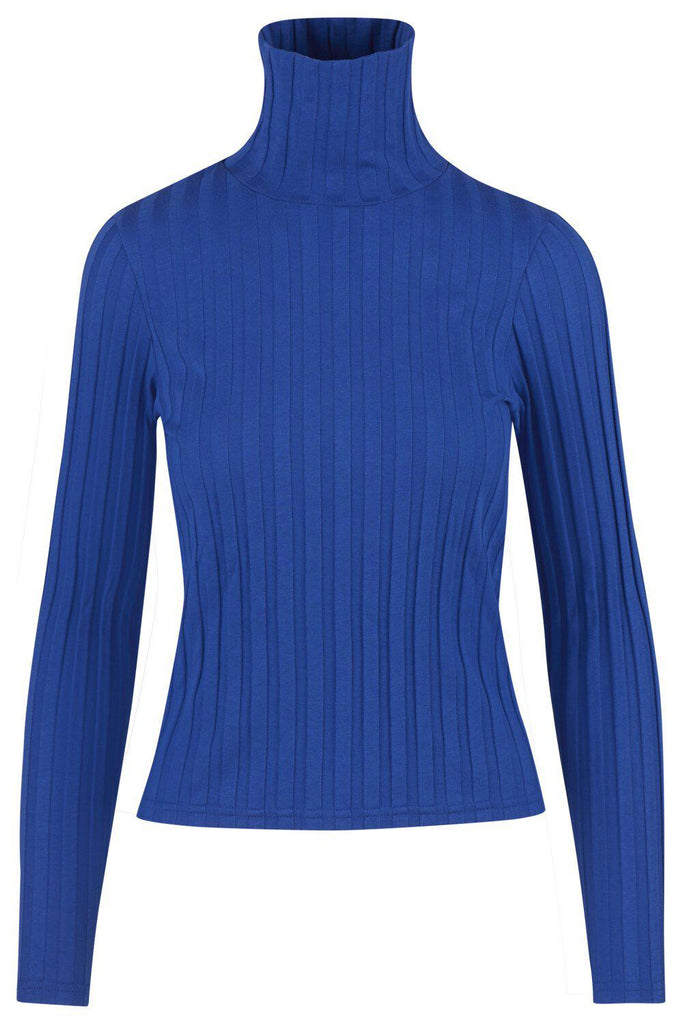 Aequem.com Shop Women's Ethical Fashion & Women's Sustainable Fashion Flavia Blue Jumper in Organic Cotton-Tops-Maqu