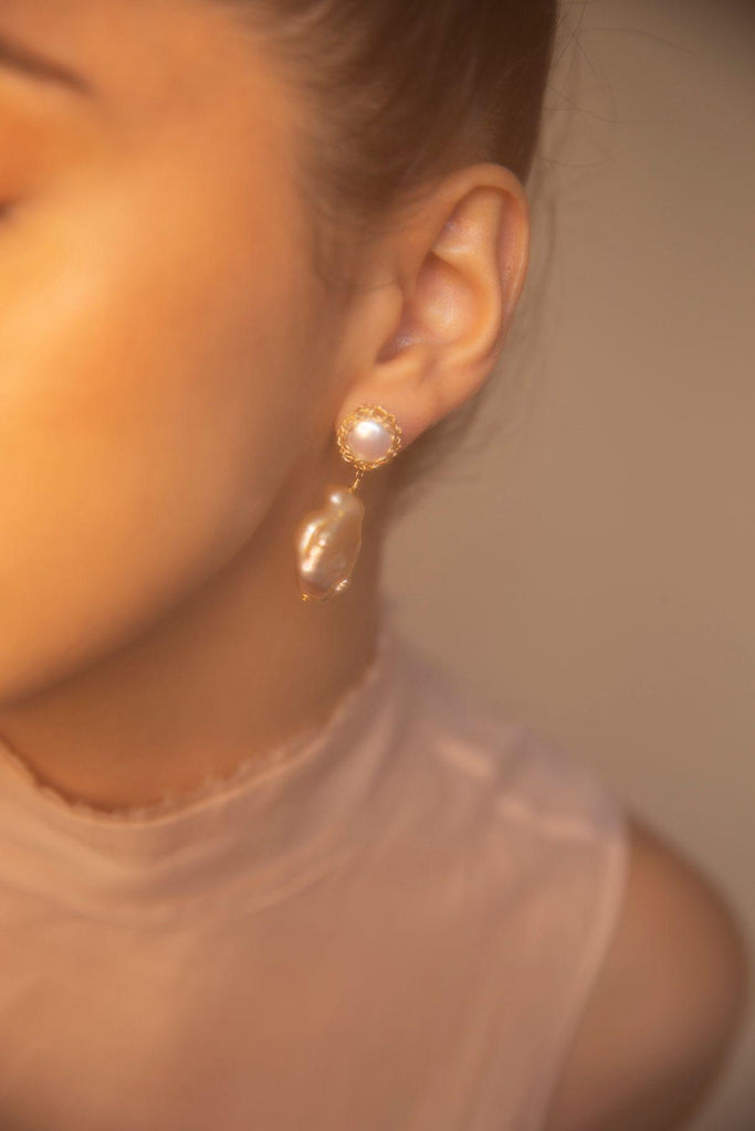 Aequem.com Shop Women's Ethical Fashion & Women's Sustainable Fashion Gemma 14K Recycled Gold-filled Drop Earrings-Jewellery-Carolina Wong (UK)