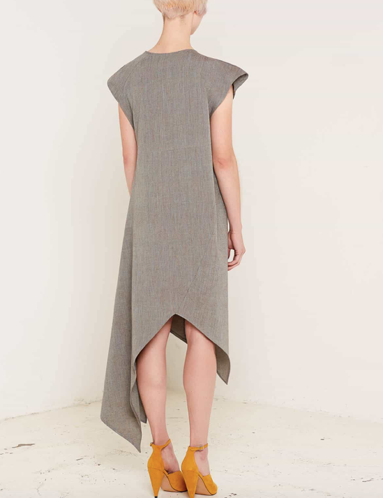 Aequem.com Shop Women's Ethical Fashion & Women's Sustainable Fashion Heather Grey Dress-Dresses-Bo Carter (UK)