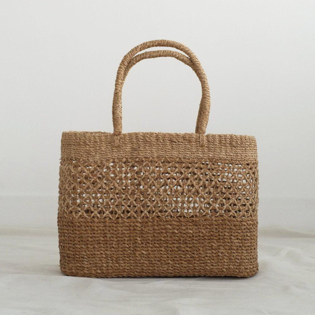 Aequem.com Shop Women's Ethical Fashion & Women's Sustainable Fashion Helena Picnic Bag - Natural-Bags-INNÉ Studios