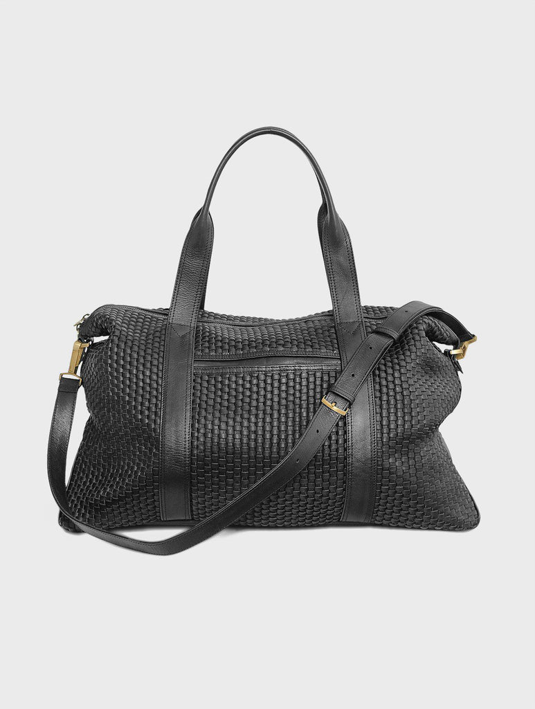 Aequem.com Shop Women's Ethical Fashion & Women's Sustainable Fashion Hester Meets Chatwin - The Intrecciato Duffel bag in Black-Bags-Kmana