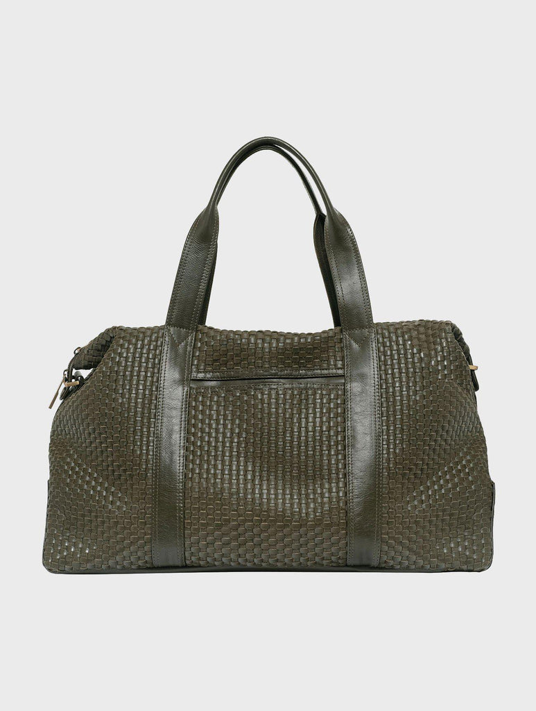 Aequem.com Shop Women's Ethical Fashion & Women's Sustainable Fashion Hester Meets Chatwin - The Intrecciato Duffel bag in Green-Bags-Kmana