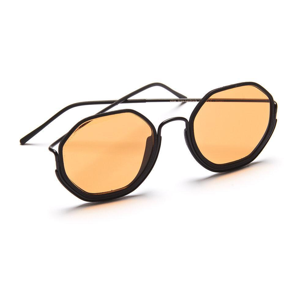 Aequem.com Shop Women's Ethical Fashion & Women's Sustainable Fashion Honeys Glasses in Black/Black/Orange-Glasses-Wire Glasses (UK)