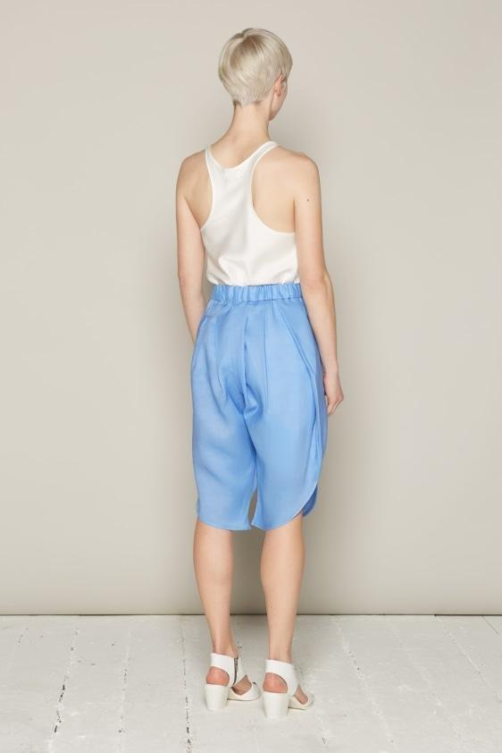 Aequem.com Shop Women's Ethical Fashion & Women's Sustainable Fashion Ingrid Shorts - Blue-Bottoms-Bo Carter (UK)