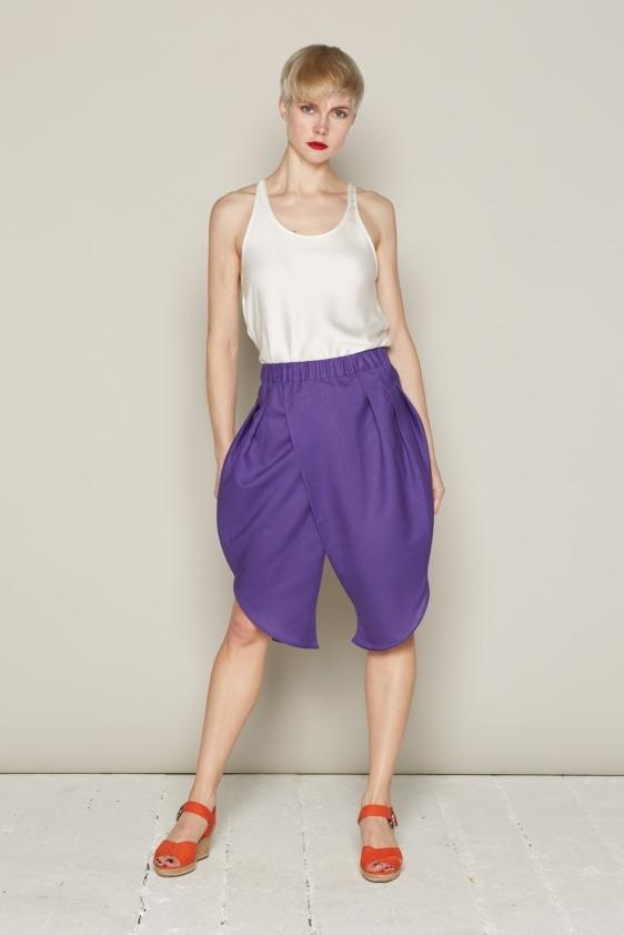 Aequem.com Shop Women's Ethical Fashion & Women's Sustainable Fashion Ingrid Shorts - Purple-Bottoms-Bo Carter (UK)