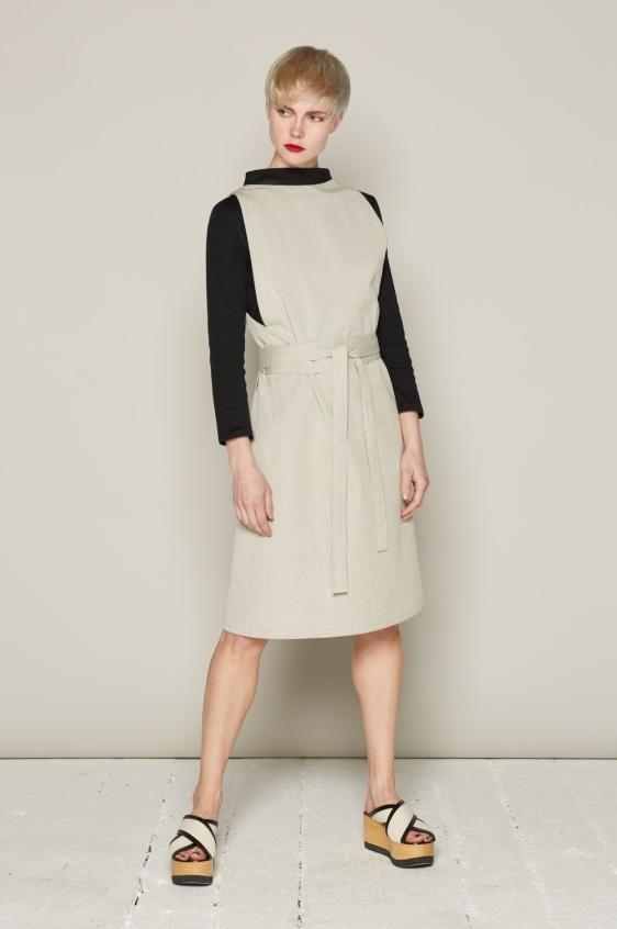Aequem.com Shop Women's Ethical Fashion & Women's Sustainable Fashion Isabelle Dress - Ivory-Dresses-Bo Carter (UK)