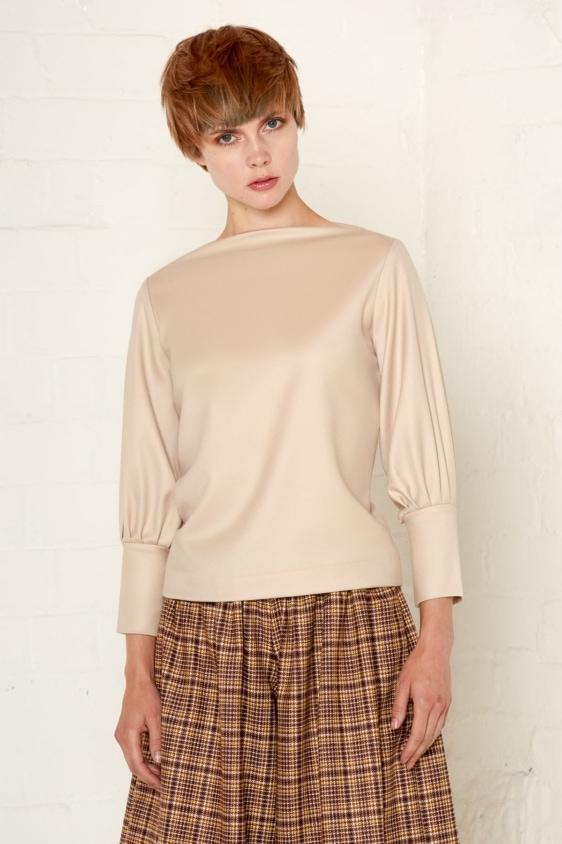Aequem.com Shop Women's Ethical Fashion & Women's Sustainable Fashion Jodie Top - Beige-Tops-Bo Carter (UK)