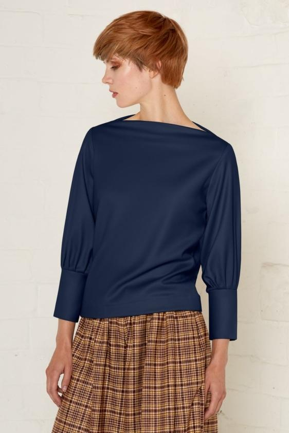 Aequem.com Shop Women's Ethical Fashion & Women's Sustainable Fashion Jodie Top - Navy-Tops-Bo Carter (UK)