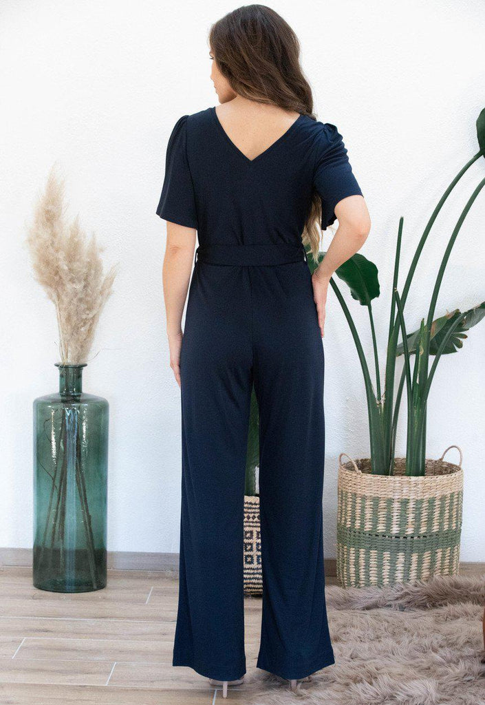 Aequem.com Shop Women's Ethical Fashion & Women's Sustainable Fashion Jumpsuit Iris in navy-Jumpsuits-AVANI