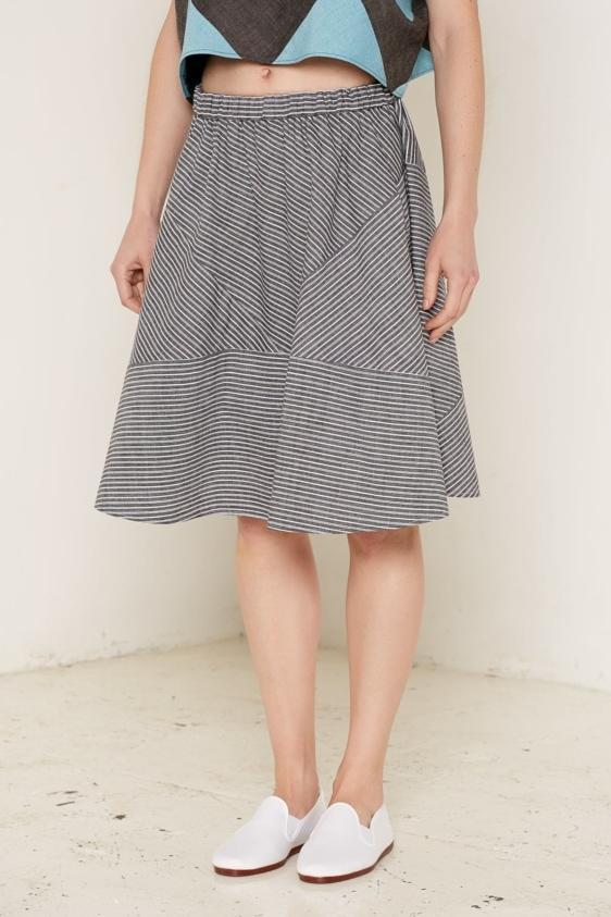 Aequem.com Shop Women's Ethical Fashion & Women's Sustainable Fashion Kore Skirt - Black & White-Skirts-Bo Carter (UK)