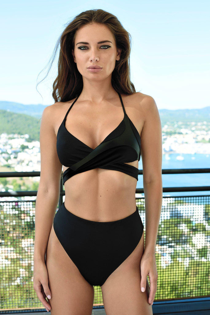 Aequem.com Shop Women's Ethical Fashion & Women's Sustainable Fashion Koro Bikini in Black-Bikini Sets-WeAreNativ (UK)