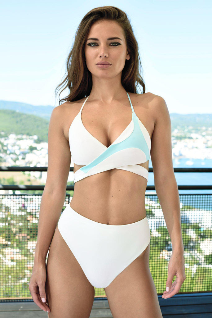 Aequem.com Shop Women's Ethical Fashion & Women's Sustainable Fashion Koro Bikini in White-Bikini Sets-WeAreNativ (UK)