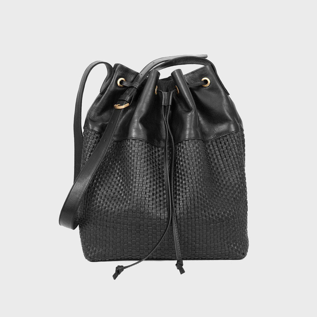 Aequem.com Shop Women's Ethical Fashion & Women's Sustainable Fashion Lady Hester - The Maxi Bucket Bag in Black-Shoulder Bags-Kmana