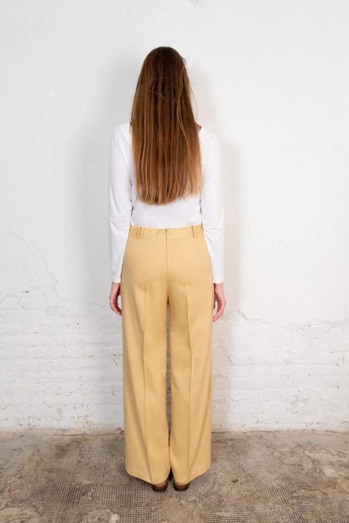 Aequem.com Shop Women's Ethical Fashion & Women's Sustainable Fashion Lamad Trousers in Sand-Bottoms-The Nordic Leaves