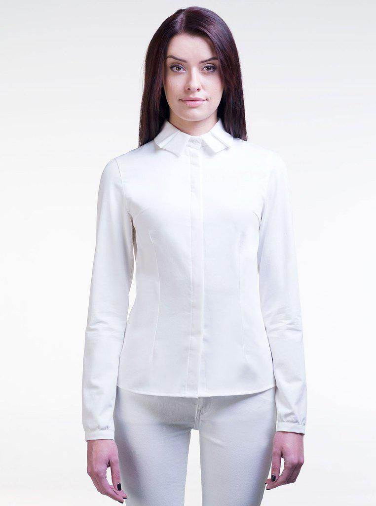 Aequem.com Shop Women's Ethical Fashion & Women's Sustainable Fashion LAURA White Organic Cotton Fitted Shirt-Tops-Kirivoo (UK)