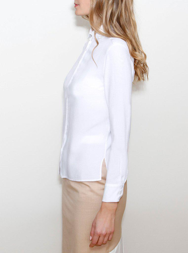 Aequem.com Shop Women's Ethical Fashion & Women's Sustainable Fashion LIISA White Bamboo Shirt-Tops-Kirivoo (UK)