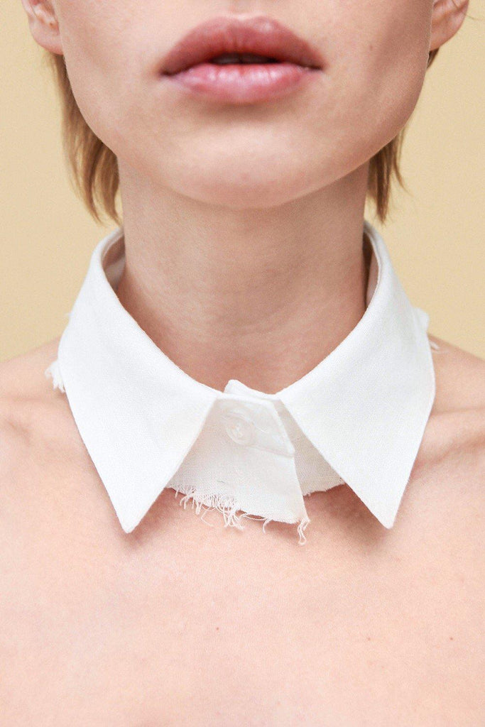 Aequem.com Shop Women's Ethical Fashion & Women's Sustainable Fashion Linen Collar-Accessories-Reda Paula