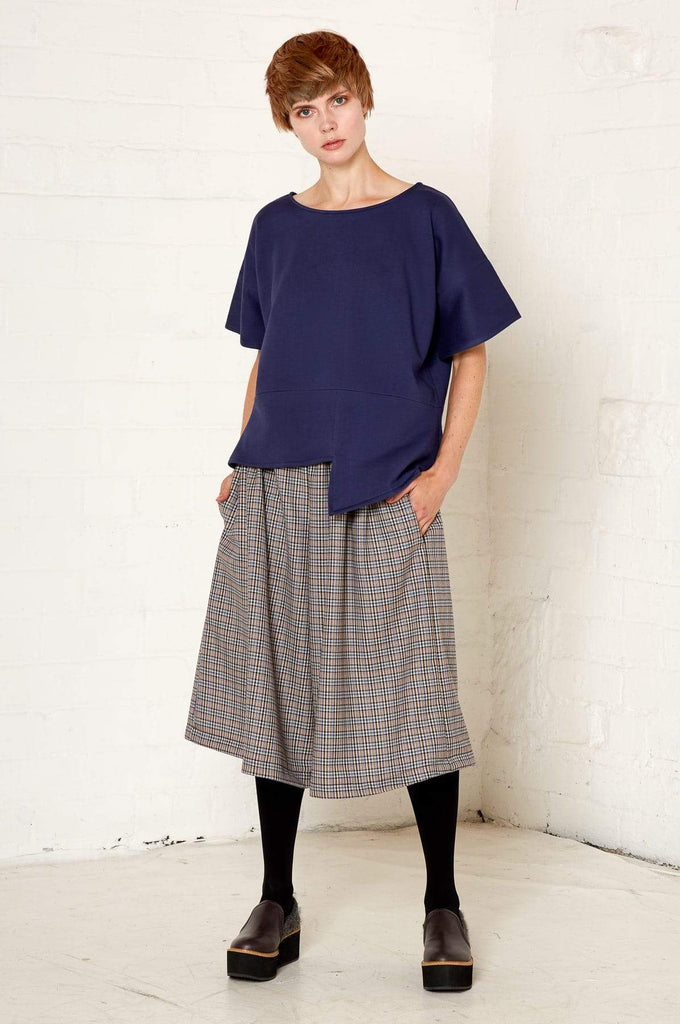 Aequem.com Shop Women's Ethical Fashion & Women's Sustainable Fashion Lynda Top - Navy-Tops-Bo Carter (UK)